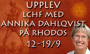 Upplev LCHF med Annika på Rhodos 12-19/9
